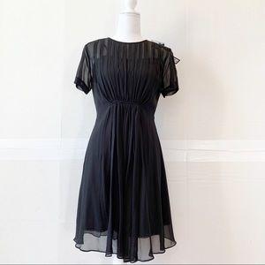 Marc Jacobs chiffon little black dress